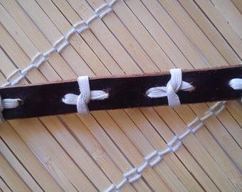 "Bracelet ""hartoce brown leather"""