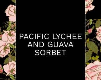 Litchi du Pacifique & Sorbet goyave - bougie de cire de soja naturelle parfumée