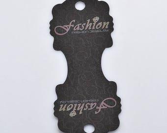 Set of 12 mm 110x45x0.3 black cardboard jewelry display