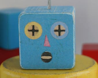 Mini Block Head Photo Holder - Handmade Photo Holder