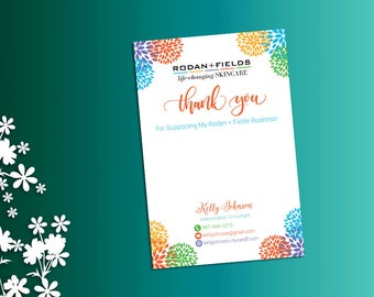 Rodan and Fields Thank You Card, Thank You Post Card, Fast Personalized, Rodan + Fields Independent Consultant, RF01