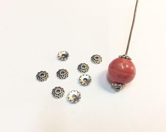 50 bead caps caps 6mm silver jewelry designs