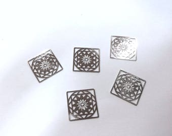 10 mini square prints 12mm rhodium plated jewelry headband
