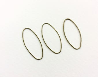20 spacer 40x19mm bronze connectors for jewelry designs