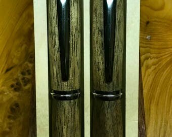 Hand crafted Fountain/Roller ball pen set