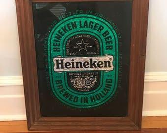 Heineken Beer Mirror Sign