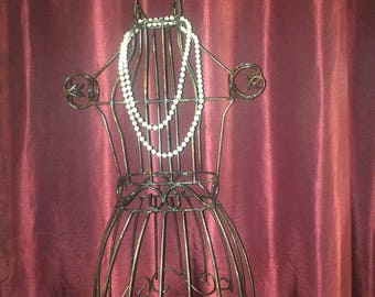 "Recycled Metal Medium 45""  Dress Form / Manniquien Bedroom Home Decor"