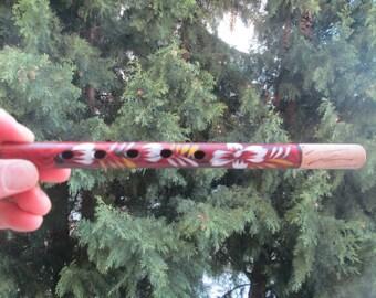 Vintage wooden whistle, Bulgarian musical flute, Old whistle,Wooden flute, Bulgarian folk musical instrument, Shepherd's Whistle Duduk
