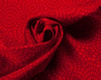 Liberty Art  - Red Spirals on Corduroy Fashion Upholstery Vintage Dress Craft Supplies Colour Style Design Fabric Sample Available