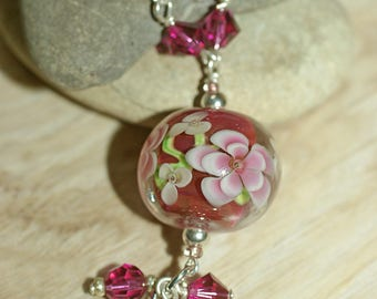 "Necklace ""Flora"" hot pink"