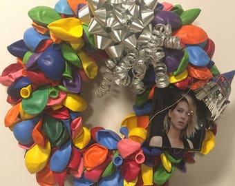 Birthday Photo Balloon Wreath
