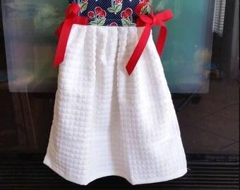 Decorative hand towel, cherries.