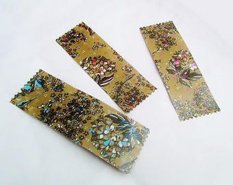 Bookmarks, craft, floral shabby, multicolored, set of 3