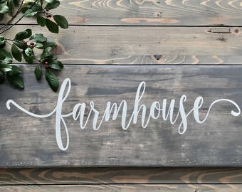 Free Shipping Canada & USA  ! 24 X 10 Rustic Farmhouse sign on reclaimed Lumber