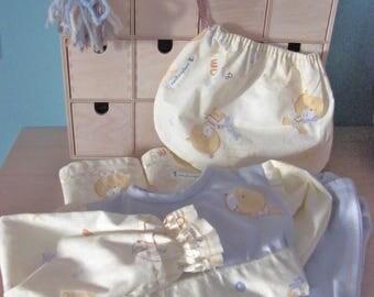 Pajama girl blue and beige 2-3 years