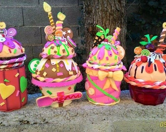 Decorative jars craft foam