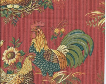 Coupon patch large chicken and sunflower fabric