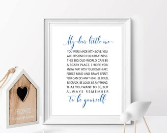 My Dear Little One, Nursery Decor, Boy or Girl Printable, Nursery Art, Baby Bedroom, nursery wall art, nursery printabler, kids wall art