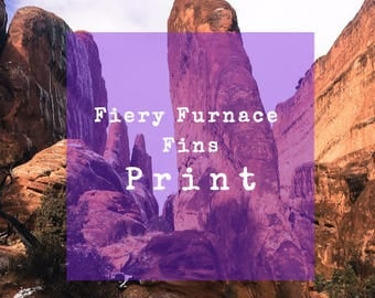 Limited Edition 8 X 10 Print, Fiery Furnace Fins, Arches National Park, Moab, Utah