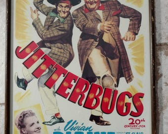 Laurel and Hardy Framed Movie Poster, Jitterbugs.