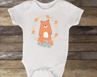 Bear Baby Bodysuit, Baby Bear Shirt, Baby Clothes, Baby Gift, Baby Girl Shirt, Girl Baby Bodysuit, Bear girl bodysuit, Baby Girl Clothes