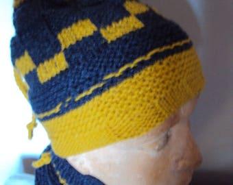 2en1 neck knit bonnet