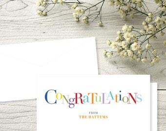 SET OF 18: Congratulations Check Card