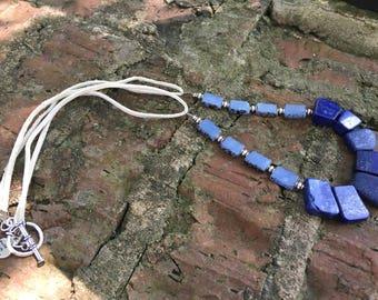 Gorgeous Blue lapis bead necklace