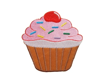 Cupcake Cake Iron On Patch Dessert Sweets Embroidered Applique Patches For Jackets