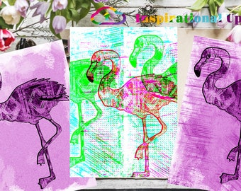 "Flamingos - 10"" x 14"" HD Digital Prints"