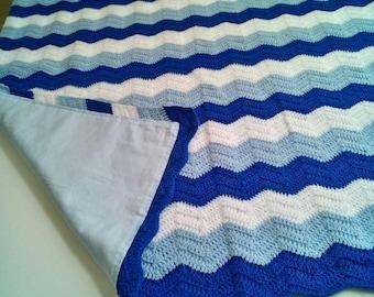 Baby blanket crochet, Handmade gift, Zig-zag baby blanket.....size 96/82 cm
