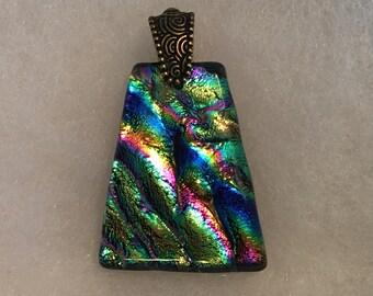 Rainbow Dichroic Glass Pendant