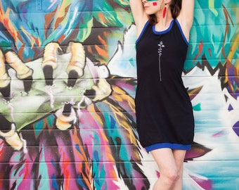 MADE in FRANCE - HERON - lines NAZCA - blue dress
