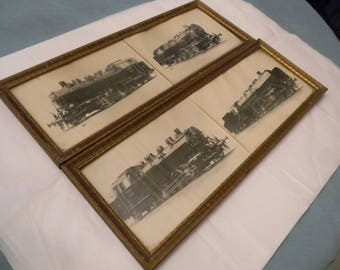 Four Black & White Train Pictures