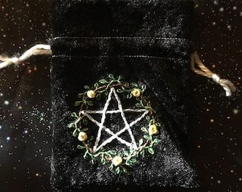 Hand-Embroidered Velvet Bags