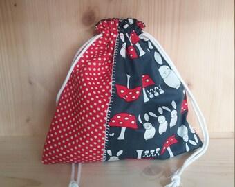Snack bag / handbag plush rabbits
