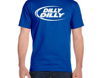 DILLY DILLY Men's Poly-Cotton T-shirt