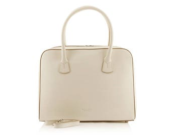 Small Cream Satchel Bag