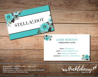 Stella & Dot Business Cards, Stella and Dot Independent Stylist, 3.5x2, Digital Download