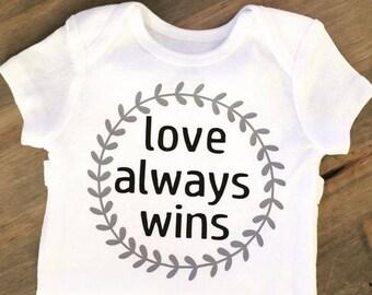 Love Always Wins Onesie