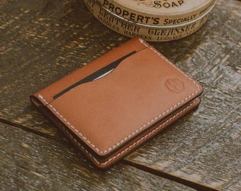 Genuine High Quality Veg Tan Leather 5 Pocket Card Wallet