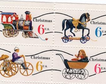 Christmas - Antique Toys - 16 Stamps - 1970 - Mint - Unused - Scott 1415 - 1418