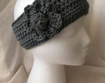 Ear Warmer with One Flower