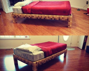 Minecraft twin bed frame Plans only