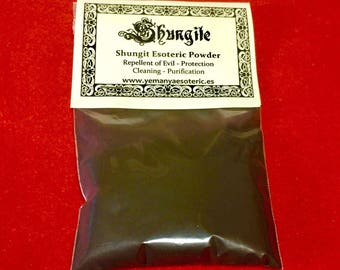 SHUNGITA polvo esoterico 20 gr. SHUNGIT esoteric powder 20 gr.