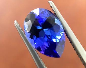 2.69 Cts - Tanzanite Loose Natural Gemstone - Pear