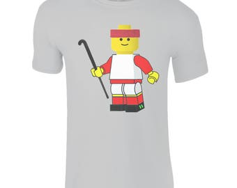 Kids Field Hockey T-Shirt, Lego Field Hockey Player. Fantastic Field Hockey Apparel and Gifts For All The Family.