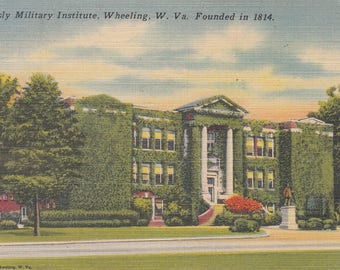 Wheeling, West Virginia Vintage Postcard - Linsly Military Institute
