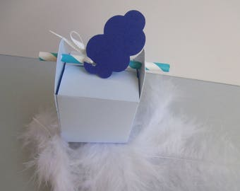 Box dragees - baptism or birth - cloud Theme