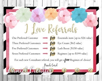 Floral Referral Card